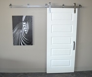 White 5 Panel Barn Door
