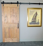 Aged Oak Two Panel Barn Door